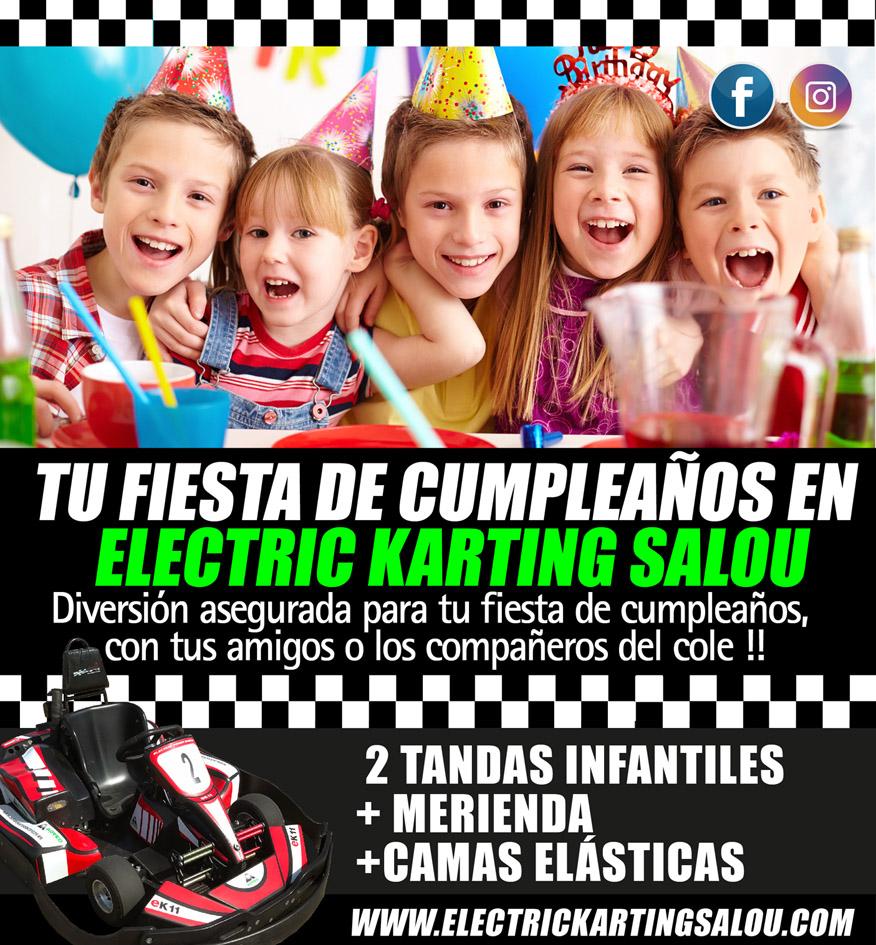 Fiesta cumpleaños Electric Karting Salou